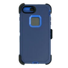 For iPhone 6s/7/8 Universal Defender Case w/Screen&Clip fit Otterbox Navy Blue