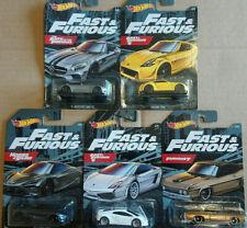 Hot Wheels Fast & Furious lot de 5  (NP09)