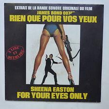 BO Film OST JAMES BOND 007 Rien que pour vos yeux SHEENA EASTON 2C008 83163
