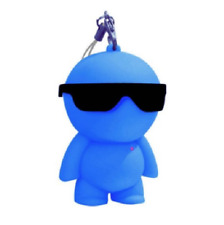 Blue BABY BEAT Keyring MINI SPEAKER 7cm Portable Bluetooth