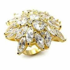Marquise Cubic Zirconia Silver Plated Costume Rings