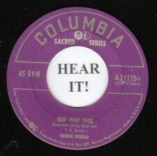 George Morgan HILLBILLY GOSPEL 45 (Columbia 21170) How Many Times M-