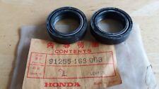 NOS HONDA ELSINORE CR 80 R 1980 - 1981 front fork oil seal X 2 91255-169-003