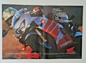 Vintage 2000 Poster Advertisement Honda CBR 600F4 Nicky Hayden