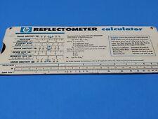 Vintage Slide Rule Calculator Reflectometer Hp and Mismatch Error Limits