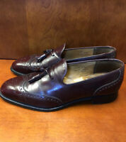 CHURCH'S Custom Grade Burgundy Tassel Wingtip Men's Shoes Size 9.5 E Handmade UK