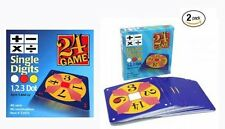 24 Game Two Pack:48 Single Digit Cards & 48 Double Digits Math Game
