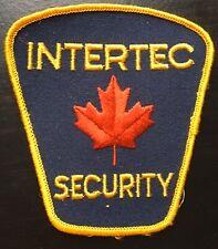 Vintage Intertec Security Shoulder Patch Canada