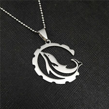 NEW Lovely Dolphin Silver 316L Stainless Steel Titanium Pendant Necklace AW41
