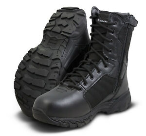 """Smith & Wesson Breach 2.0 8"""" Side Zip Boot Black"""
