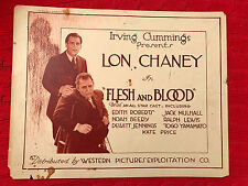 Flesh And Blood 1922 Western silent title lobby card Lon Chaney Sr.