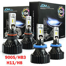 For 2007-2015 Ford 9005+H11 8000LM White LED Headlight High & Low Beam kit Bulbs