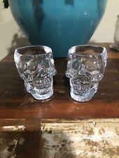 Lot of 2 Crystal Head Vodka Skull Promo 2oz Shot Glasses
