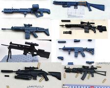 8PCS FOR 1/6 GUN HK416 MSR MG42  AK74  ARX160 FN-SCAR M1 SUPER90 SL8 Battlefield