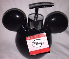 Disney Mickey Mouse Black Bathroom / Kitchen Soap / Lotion Dispenser Pump New