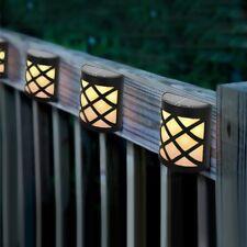 4X Energía Solar 6 LED Luces de Pared Impermeable Para Jardín Césped Patio