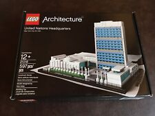 Lego Architecture United Nations Headquarters 21018 Complete Box Instructions