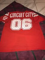 Vintage Circuit City Football Jersey Uniform Worker Red 2xl Men's