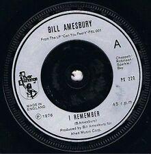 "BILL AMESBURY I Remember 7"" Single Vinyl Record 45rpm Power Exchange 1976 EX"