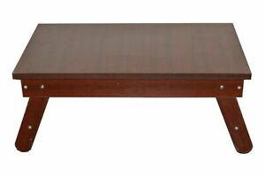 Home Decor Wood Solid Sun Glimmer Mahogany Surface Foldable Table Dining Table