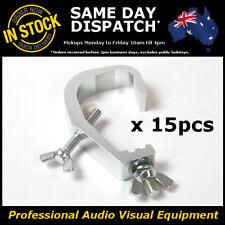 15 x 150kg Aluminium 50mm Stage Lighting Hook Bar Light Clamp LED PAR Cans