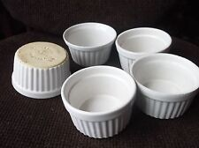 """5 X OVEN TO TABLE RAMEKIN DISHES RIBBED OUTER 4 = RAYWARE + 1 = OTHER 3.5"""""""