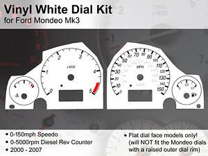 Ford Mondeo Mk3 (2000 - 2007) - 150mph / 5000rpm - Vinyl White Dial Kit