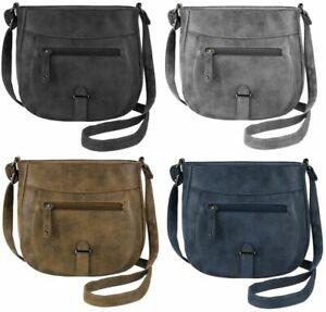 Ladies Handbag Cross Body Bag Women Shoulder Messenger Over Double Multi Pocket