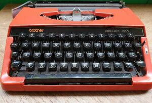 Rare vintage brother deluxe 220 mechanical typewriter