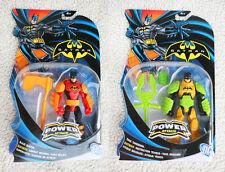 2 BATMAN Action Figures: BLAZE BUSTER & TOXIC TAKEDOWN. DC, MATTEL, BRAND NEW!