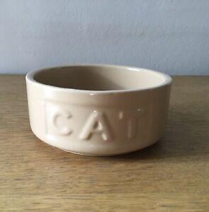 Beige Vintage Style Ceramic Cat Bowl Circular New