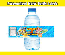 12x MIGHTY PUPS PAW PATROL WATER BOTTLE LABELS