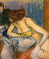 The Toilet Edgar Degas Wall Art Women Painting Print CANVAS Giclee Repro Small