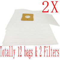 12X Bag + 2 Fitler For Hoover Mode 5000PH 5006PH 5007PH H4526 Action Pets 5007PH