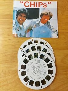 1980 CHIPS TV SHOW  VIEWMASTER 3 Reels & card BL-014