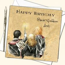 Personalised Harry Potter Birthday Card Nephew Grand son Daughter 8th 9th 10th