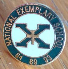 National Exemplary School Pin Badge Rare Vintage (D2)