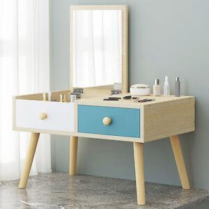 Small Bedside Dressing Table Vanity Makeup Desk Bedroom Space Saving Low Height
