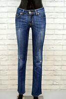 Jeans Vita Alta Donna LIU JO Taglia 26 40 Pantalone Pants Woman Blu Slim Fit