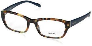 Prada Eyeglasses Havana Spotted Blue, 0PR18OV NAG1O1  52