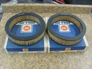NEW AC A467C Air Filter Ford Truck 302 351 (2) PAIR Filters 70's-90's