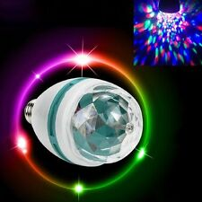 2x Disco Light Party Lamp LED  Rotating Decorative RGB Crystal Bulb DJ party