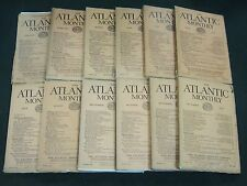 1925 THE ATLANTIC MONTHLY MAGAZINE LOT 12 ISSUES - NICE COLOR ADS - WR 450B