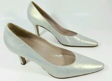 Peter Kaiser womens silvery white heels uk 6.5 fits like 7