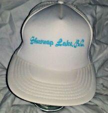 VTG Shuswap Lake B.C. Canada Vacation White Mesh Hat A3