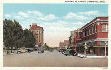 Postcard Broadway of American Sweetwater Texas