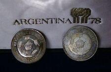"""ARGENTINIEN WM -1978  """"HAITI 1977 """"- ZWEI  SILBER  MÜNZEN im Etui !!! TOP PREIS"""