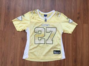 Kansas City Chiefs Larry Johnson #27 NFL Yellow Women's Size M Football Jersey!