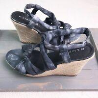 RAMPAGE BRIXTON Espadrille Blue TIE DYE WEDGE Sandals Women's 9.5