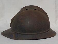 ELMETTO FRANCESE MOD 915 ADRIAN battle damaged WW1 helmet casque elmo 1GM guscio
